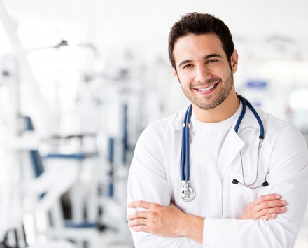 Male doctor at the gym