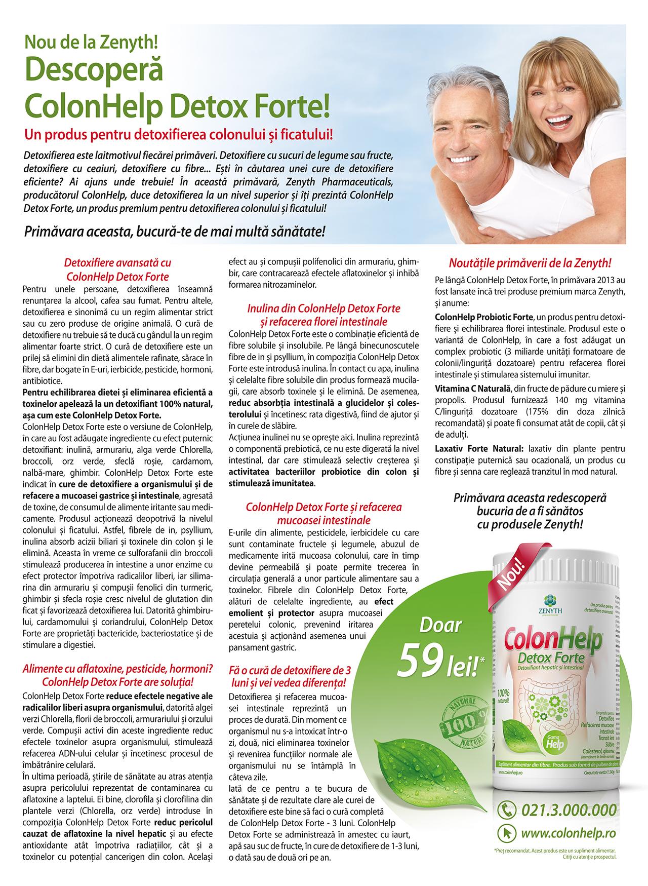 detoxifiere avansată a colonului